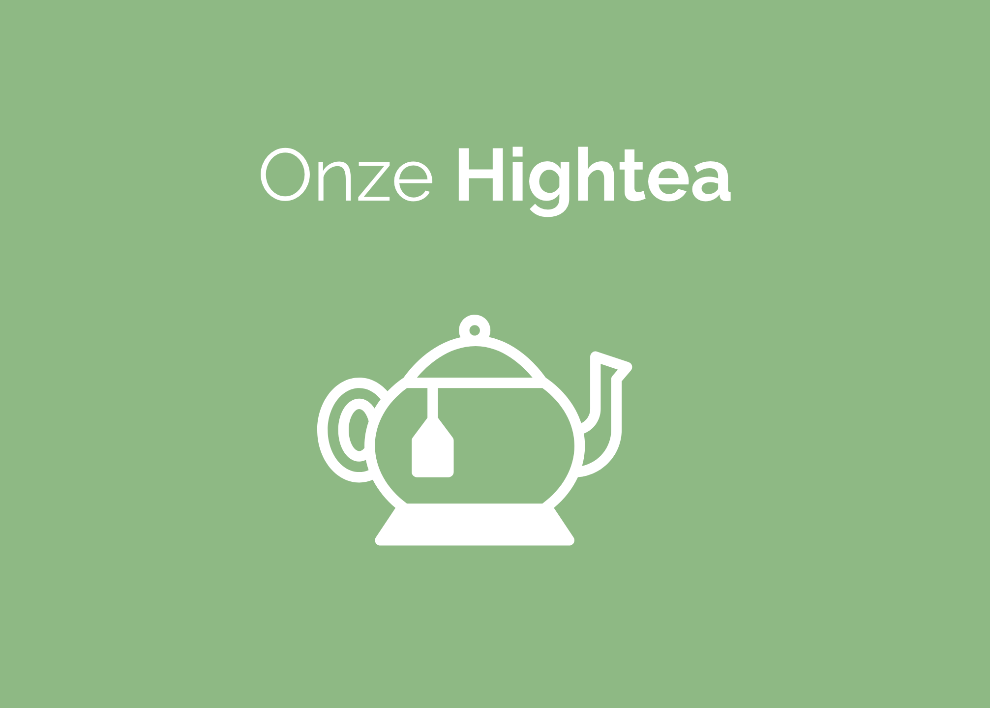 De Tuin high tea